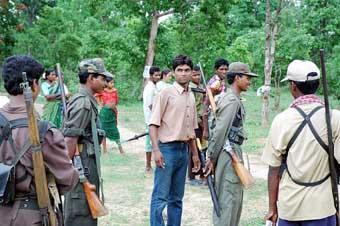 CPI Maoist activists in Chhattisgarh - Andhra border area