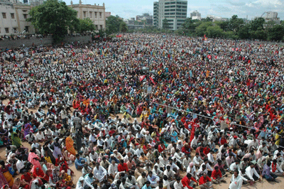 Mass rally in hyderabad organized by maoists