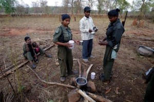 Prepare tea at a temporary base in the Aabujh marh forests in the central indian state of chattisgarh.