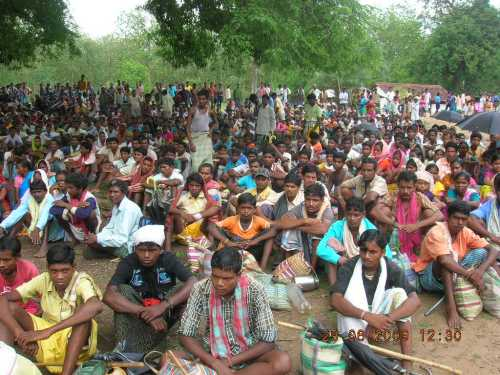 Protest Rally Against Killing of Seven Villagers By Security, Naming Them Naxals
