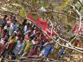 Tribal CPI Maoist supporters on their way to a rally in the Bastar jungles