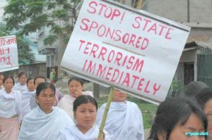 Protest march over fake encounter killing in Manipur