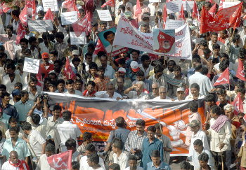 The mammoth rally of Maoist supporters came from several parts of Andhra Pradesh at the Maoist rally in Hyderabad on Thursday. The historic rally after 14 years is conducted by the Maoist outfit.   SEPT-30/2004