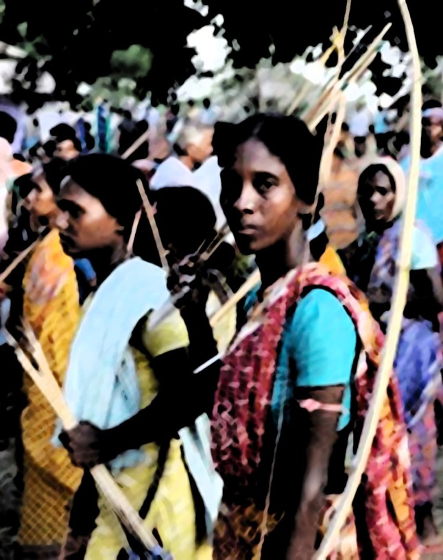 Lalgarh women in a PCPA rally