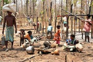 Salwajudam atrocities: The ravaged remains of Gothi Koya lives,after forest rangers burnt down their houses. (File)