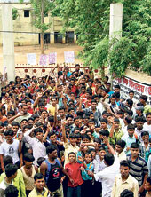 Lalgarh students protests against police camps