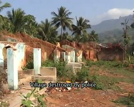 Village distroyed by police