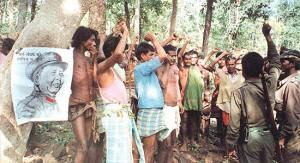 Locals pledge support to Maoists in the jungles of Bastar, Picture. Outlook