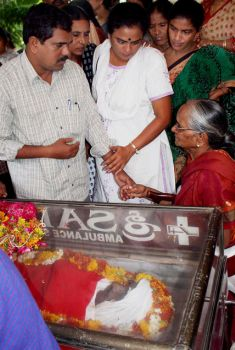 Touching moments, Former Janashakti leader Amar and others consoling the mother of Maoist leader Cherukuri Rajkumar alias Azad who was killed in a fake encounter.