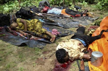 Dead bodies fo adivasis killed by security forces in West Bengal.. Operation Green Hunt, Maoist, Naxal